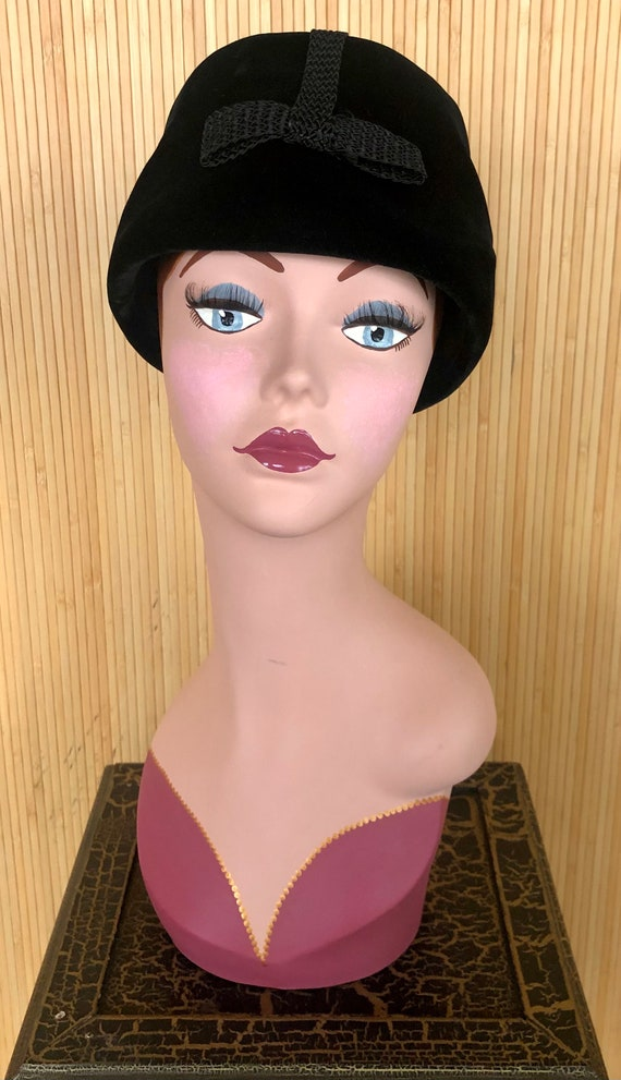 "Vintage 1960's Black Velvet Christian Dior ""Miss … - image 2"