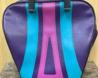 Purple Vintage Brunswick Bowling Bag