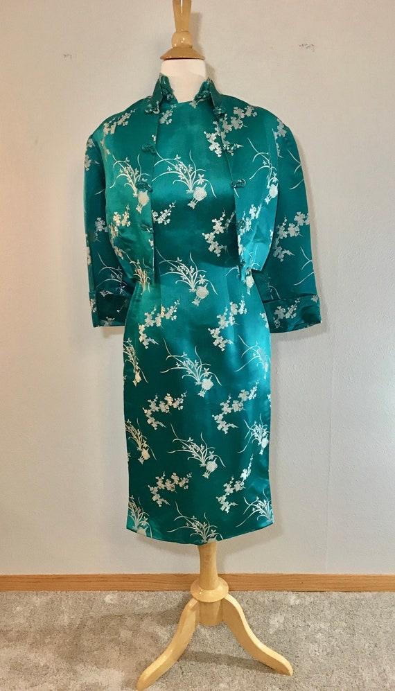 1940's/50's Silk, Handmade Eastern Inspired Sheath