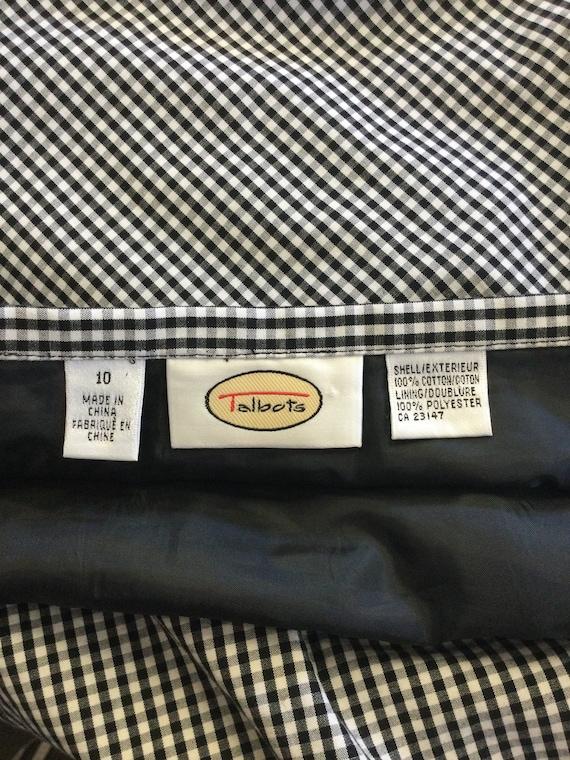 1990's Vintage Talbots Gingham Midi Skirt - image 7