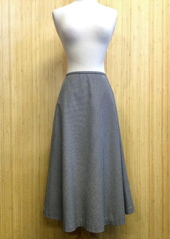 1990's Vintage Talbots Gingham Midi Skirt - image 1