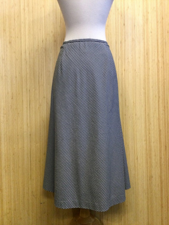 1990's Vintage Talbots Gingham Midi Skirt - image 3