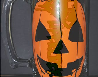Silver Shamrock Pumpkin Mask Halloween 3 Deluxe Glass Mug