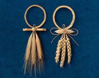 Wheat weaving lucky charm, third wedding anniversary