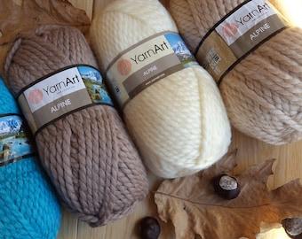 05983f14835 Yarn YarnArt Alpine 150 g bulky yarn super chunky yarn thick yarn for scarf  big yarn giant yarn snud yarn hat yarn cap yarn volumetric yarn