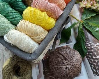 100% linen yarn natural linen flax yarn eco-friendly yarn crochet linen yarn linen thread eco yarn organic yarn ethno yarn linen string