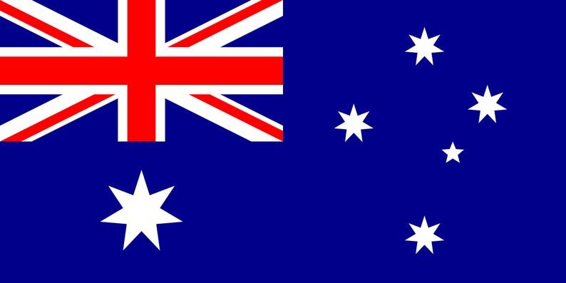 1285 Scale Australian Flag Water Slide Decals