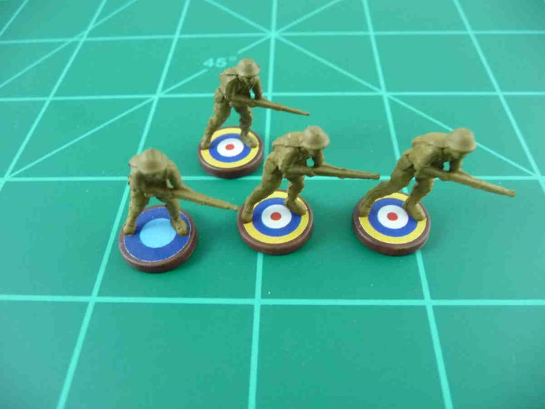 Axis /& Allies British Roundel Infantry Base Water Slide Decal