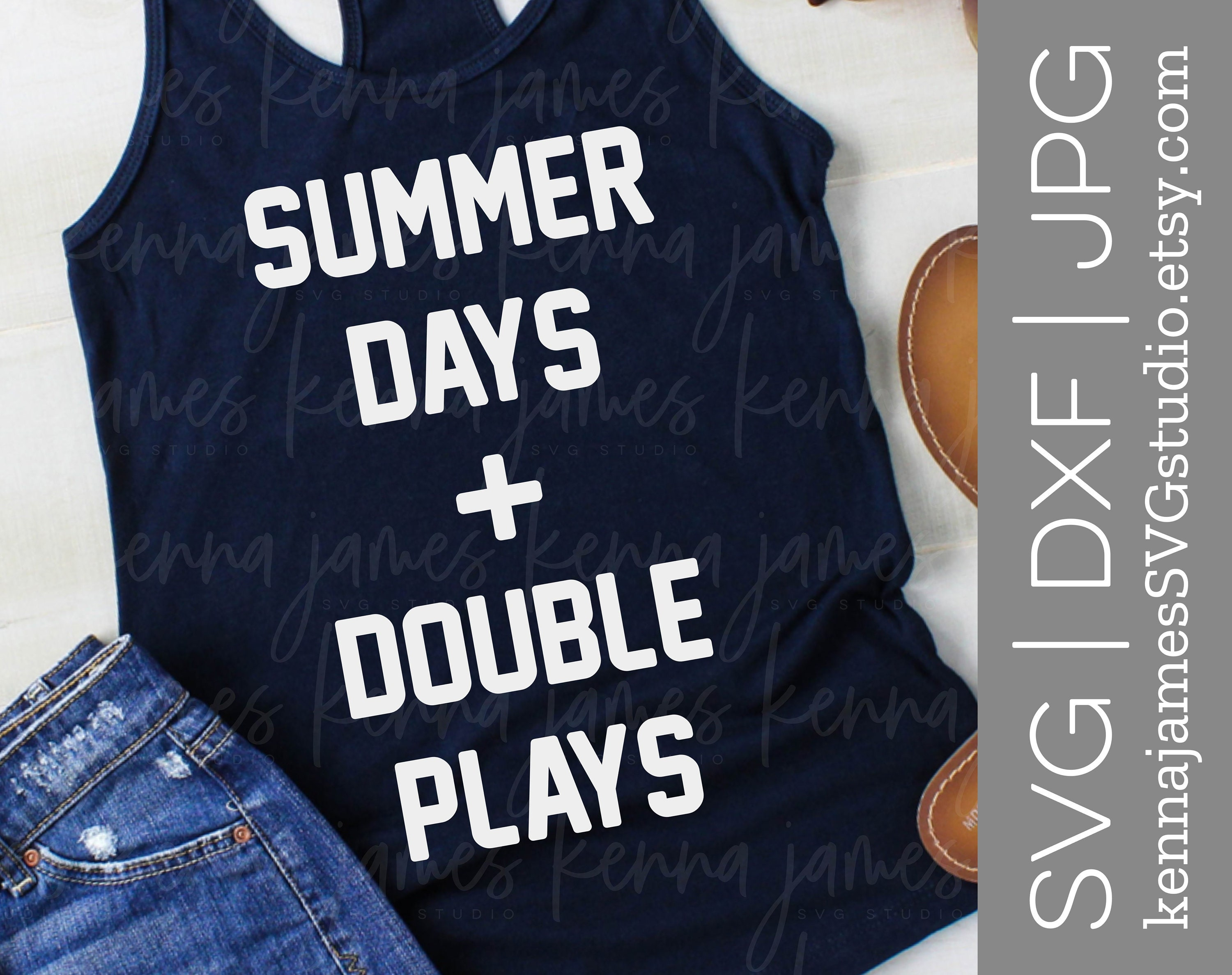 43ae6a98694 Summer Days And Double Plays svg Summer Days   Double Plays