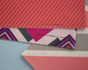 3x 80's Pattered Wrapping Paper Sheets