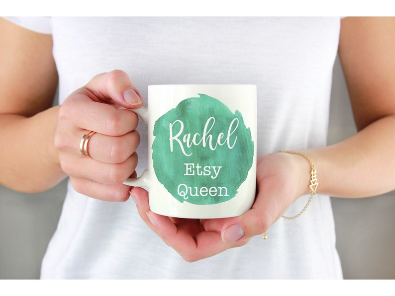 Etsy Queen name on mug mug with name personalised gift funny coffee mugs  gift for business owner, Inspirational gifts, queen mug, your name