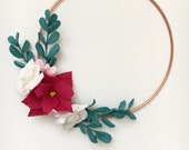 Floral hoop with Paper Po...