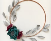 Floral hoop with Silver L...