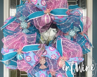 Winter Candy Wreath