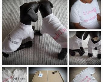 Personalisierte Doggy & Besitzer T-shirt-Satz