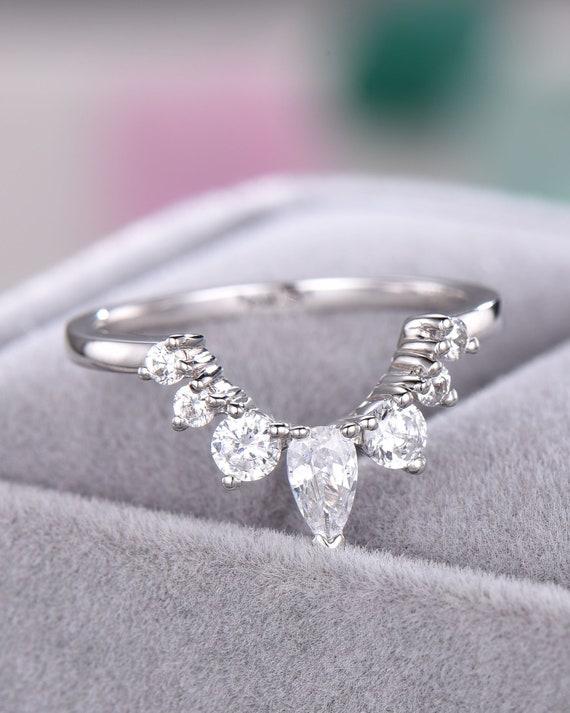 925 Plata esterlina CZ anillo abierto la mitad de la eternidad tamaño del mensaje R