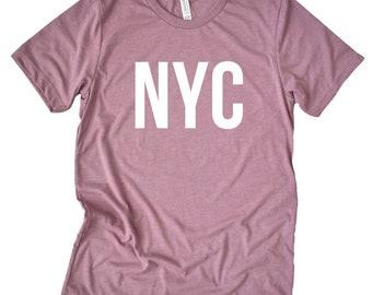 57e10ca197dc NYC Shirt - NYC T-Shirt - New York City Trip Shirt - nyc Souvenir - Ladies NYC  Shirt - Travel Shirt - Airport Outfit - New York City Shirt