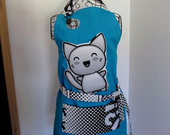 """8 - 10 + / 10 - 12 + years old: apron bib """"Manga"""", for the kitchen or other activity"""