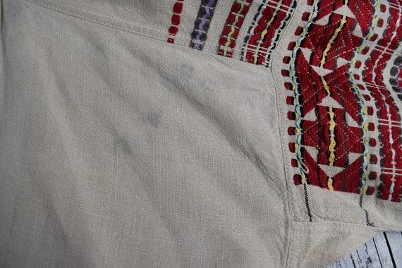 Vintage traditional Ukrainian embroidered shirt /… - image 8