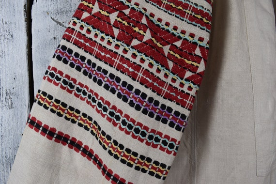 Vintage traditional Ukrainian embroidered shirt /… - image 4