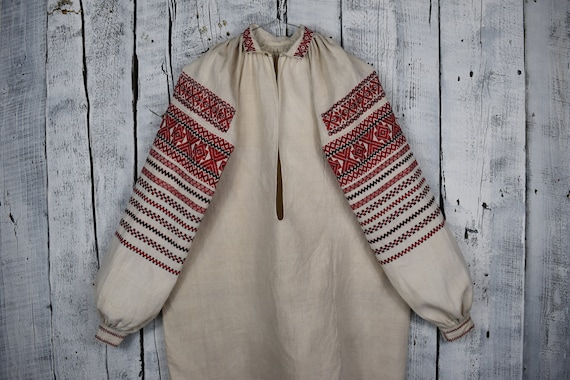 Vintage traditional Ukrainian embroidered shirt /