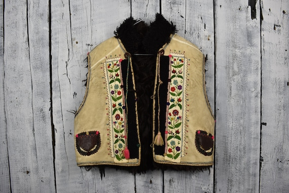 Antique Ukrainian vest / Traditional Ukrainian sle