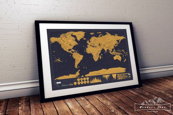 Deluxe Scratch Off World Map | Etsy