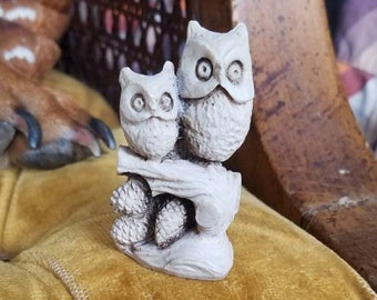 Small Carved Wooden Owls, Made in Mexico