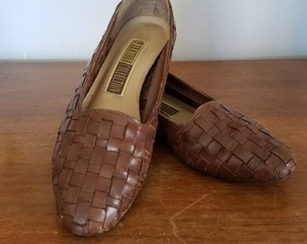 Woven Flats, Leather Collection, 6-6.5