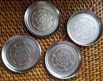Metal Flower Coaster Set of 4