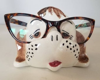 fab6ab9d6a Vtg Puppers Ceramic Eyeglass Holder