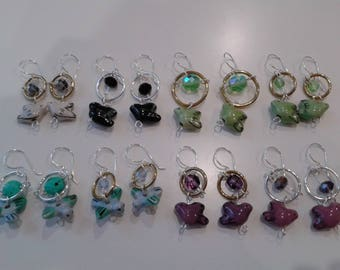 """Earrings """"Come"""" plated silver to choose"""