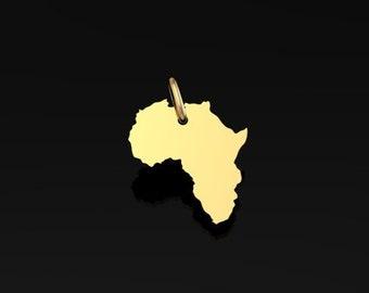 Africa or 18K pendant
