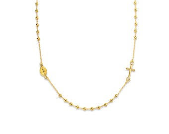Miraculous Virgin Chapel and Yellow 18k Necklace