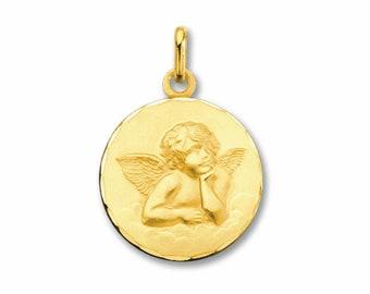 Angel Raphael Medal yellow gold 18K