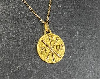 Chrisme Yellow Gold Medal 18K