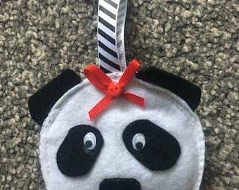 Teachers gift, panda felt keyring, panda
