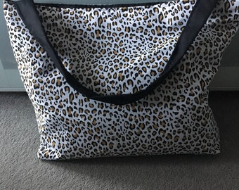 Beach bag, Large tote bag, beach bag, animal print, summer bag