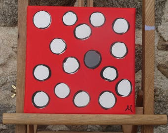 The Dirty Dot - Original Painting - Canvas - Square Art