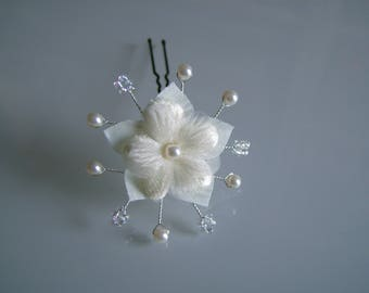 PIC/hairpin/jewelry/accessory/clip hair / bun bridal / wedding / party / ceremony / cocktail ivory / crystal flower bead (cheap cheap)