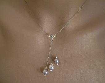 Necklace light p dark grey dress bridal/wedding/evening beads (cheap cheap)