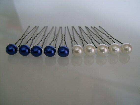 lot 10 Pics pinces épingles accessoires cheveux Chignon Bleu   Etsy 7631a364d956
