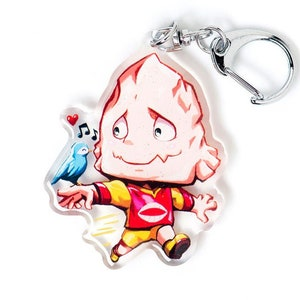 Hero Academy Hitoshi Shinso Brainwashing Acrylic Charm Keychain Double-Sided Anime Manga Gift Itabag Cute Chibi Kawaii