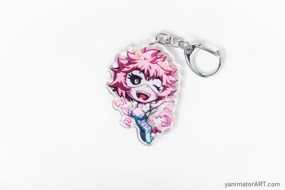 Bnha Hero Academia Mina Ashido Aka Pinky Acrylic Charm Keychain Double Sided Boku No Hero Anime Manga Gift Itabag Cute Chibi