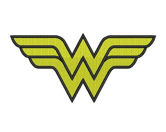 Wonder Woman Embroidery Design - 5 SIZES