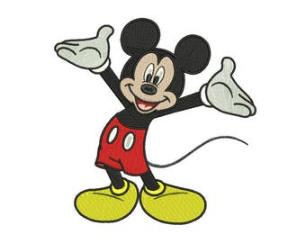Mickey Embroidery Design #8 - 4 SIZES
