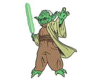 Yoda Embroidery Design - 4 SIZES