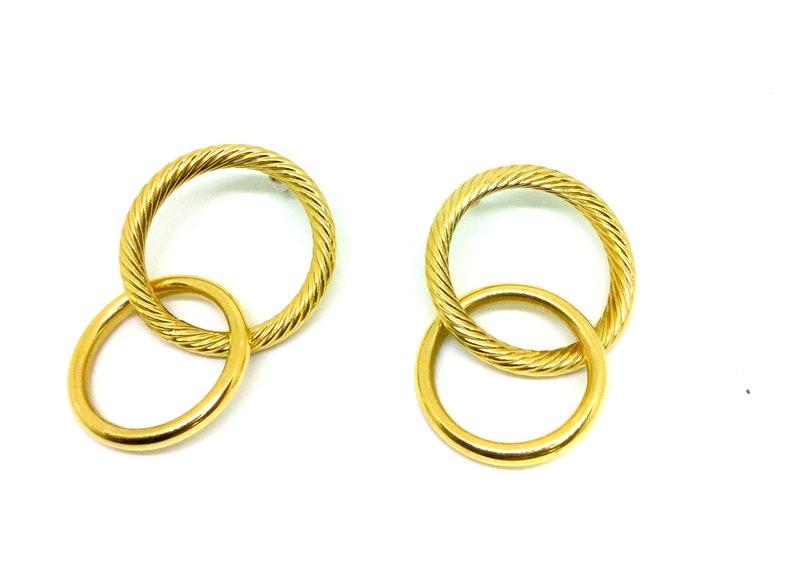 4b750caed6efa 14k yellow gold Twisted hoop earrings, twisted earrings