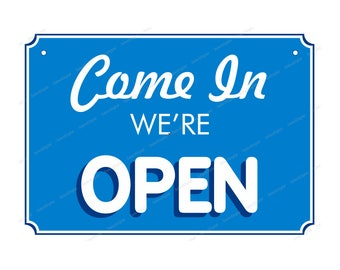 Open Closed printable sign and art