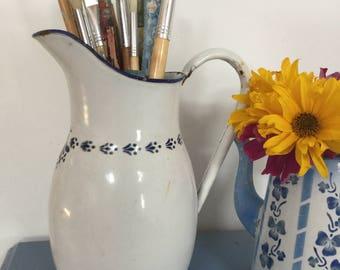 Enamel water jug French